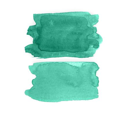 Watercolor green strokes on an isolated background. concept for your design.