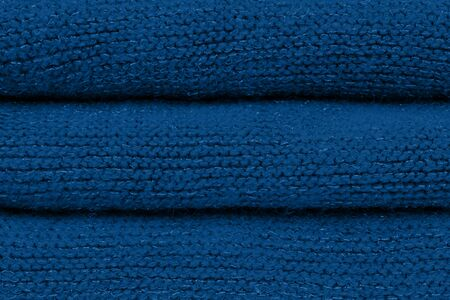 Classic blue color of year 2020. Fashion color autumn-winter 2019-2020 knitted sweater. warm cozy home and fashion colors concept Warm and flattering.