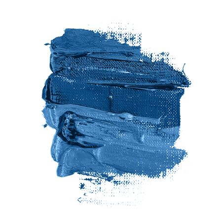 Paint stroke. Classic blue color of year 2020.