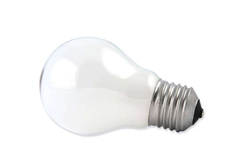Lightbulb on white background
