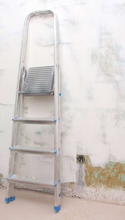 Step ladder in renovate room