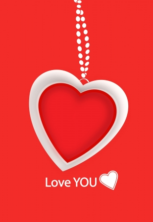 Love You Valentines message Stock Photo - 16857184