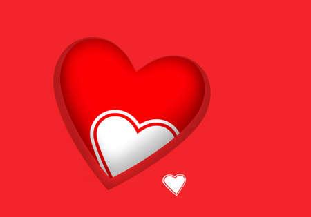 copysapce: Rich red Valentine greeting card Stock Photo