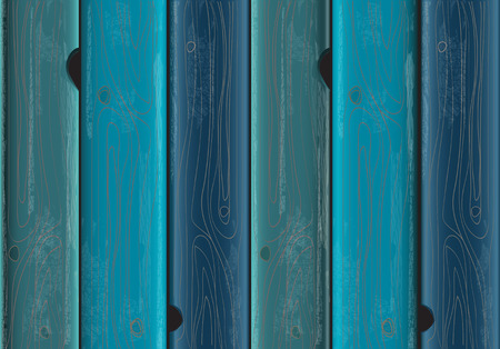 Blue painted wood background texture with weathered flaking paint