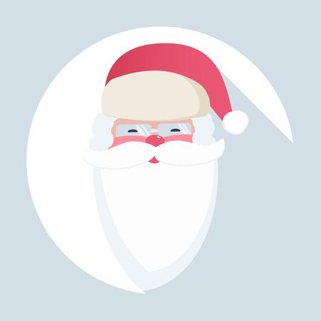 Santa Claus, christmas icon Illustration