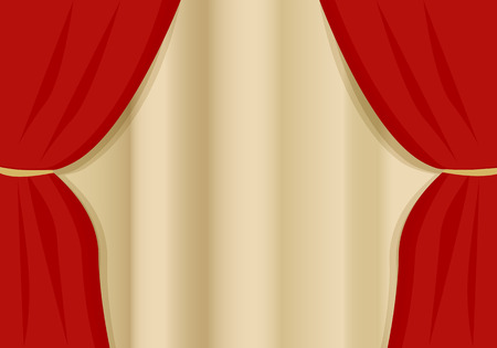 thespian: A red velvet curtain opening