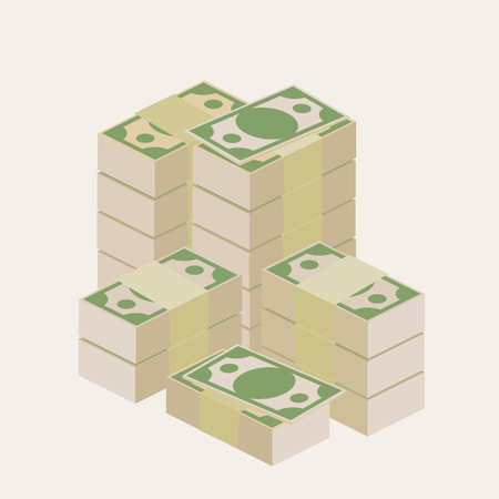 expenditure: Several piles of money