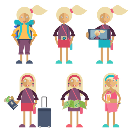 Set of characters in flat stile. Stock Vector - 44592909