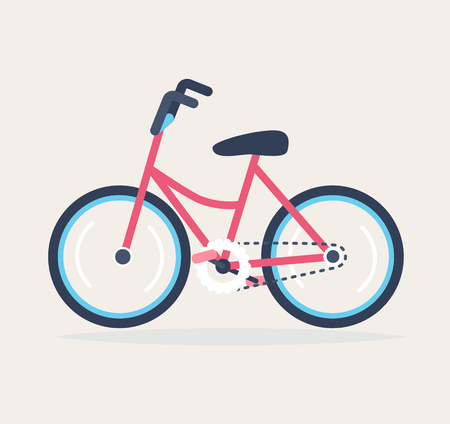 A colourful bicycle, vector illustration