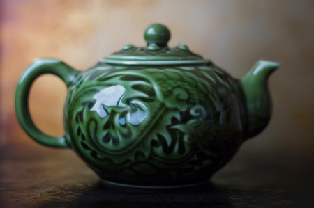 chinese tea pot: One chinese tea pot for traditional tea ceremony Stock Photo