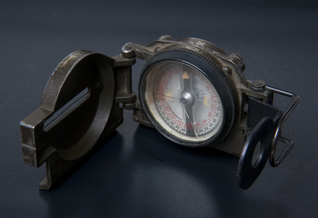 solider: old combat compass Stock Photo