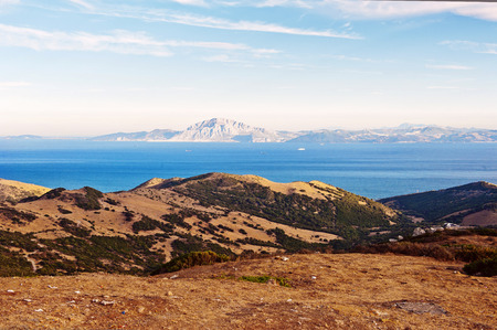 strait: A view to the Gibraltar strait