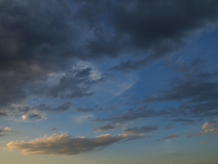 blue sky is covered by gray clouds Stock Photo - 13402157