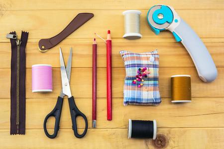 sewing hand tools. photo