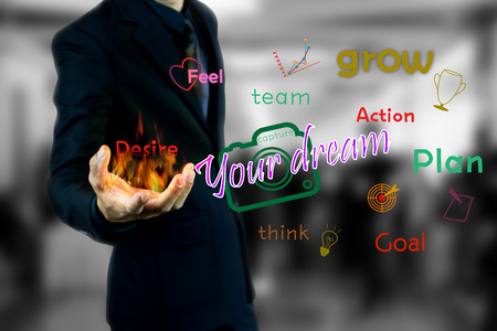people in action: successful concept