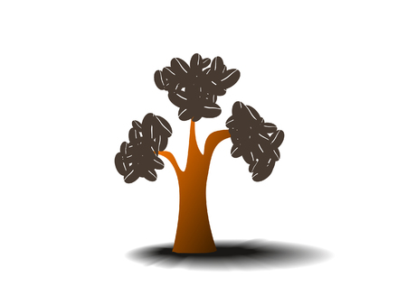 coffee tree: coffee tree on white background Illustration