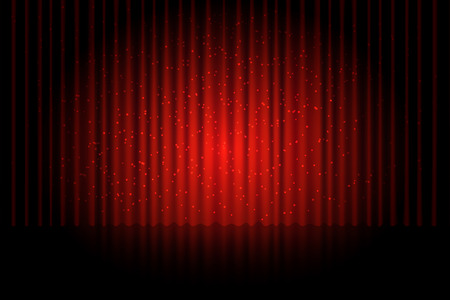 curtain background: red curtain background vector version Illustration
