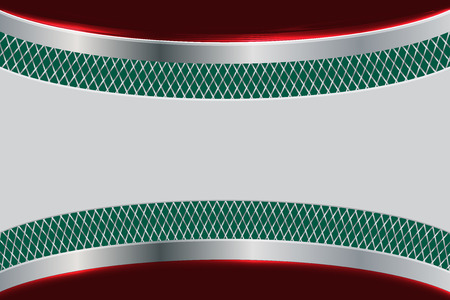 silver metal: silver metal on green and red background
