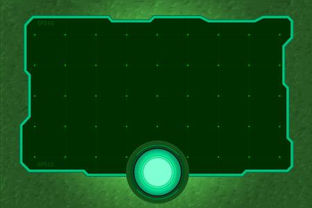 green tone: technology frame green tone Illustration