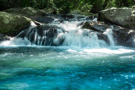 Waterfall in the rainforest at Phu Soi Dao National Park, Thailand. 写真素材 - 132877868