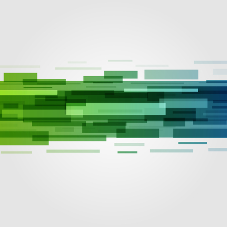 green banner: Digital geometric lines abstract vector background bright and transparency. Good for Banners, Flyers, Posters, Brochures.