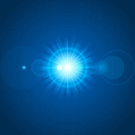 gaze: Sun with lens flare lights template and vector background. Special Effect Glowing Rays. Good for promotion materials, Brochures, Banners. Abstract Backdrop.