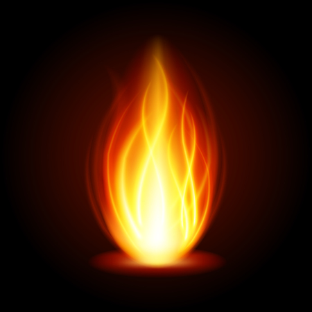 special effect: Abstract fire flame light on black background vector illustration. Burning flames translucent elements special Effect.