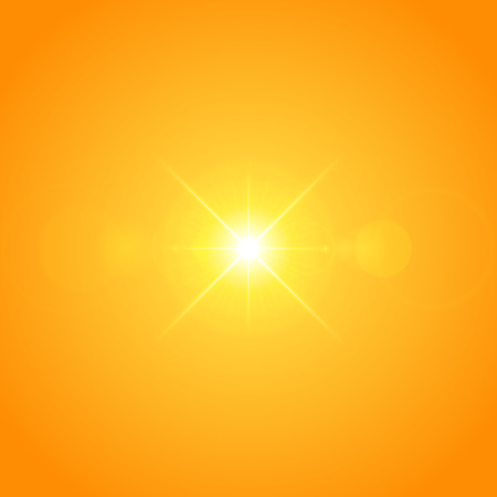 special effect: Sun with lens flare lights template and vector background. Sunrise or Sunset Special Effect Glowing Rays. Good for promotion materials, Brochures, Banners. Abstract Backdrop