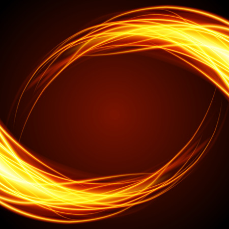 Abstract fire flame light on black background vector illustration. Burning flames translucent elements special Effect
