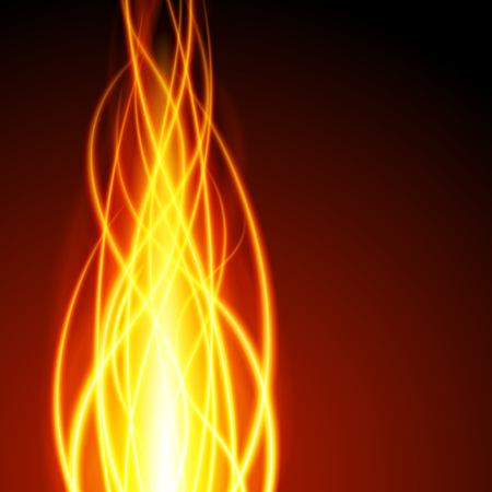 translucent red: Abstract fire flame light on black background vector illustration. Burning flames translucent elements special glowing effect.
