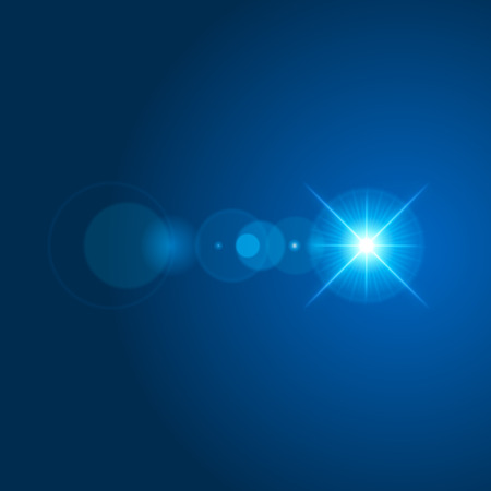 special effect: Sun with lens flare lights template and vector background. Special Effect Glowing Rays. Illustration