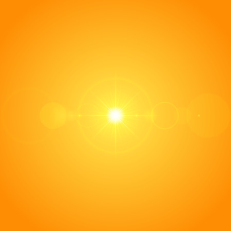 special effect: Sun with lens flare lights template and vector background. Sunrise or Sunset Special Effect Glowing Rays. Good for promotion materials, Brochures, Banners. Abstract Backdrop. Illustration