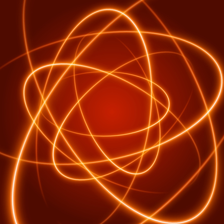 stripped: Smooth light orange waves lines vector abstract background. Technology Background. Glowing effects.