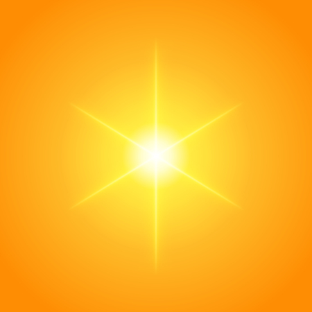 gaze: Sun with lens flare lights template and vector background. Sunrise or Sunset Special Effect Glowing Rays. Good for promotion materials, Brochures, Banners. Abstract Backdrop. Illustration