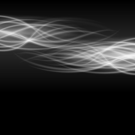 shine background: Abstract fire smoke light on black background vector illustration. Burning flames translucent elements special glowing effect. Illustration