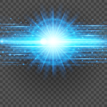 Glatte hellblaue Linien auf Transparenz Hintergrund Vektor-Illustration. Leuchtendes durchscheinendes Element für spezielle Effekte. Abstraktes Design.