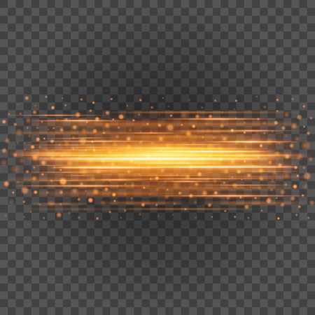 ripple effect: Smooth light orange lines on transparency background vector illustration. Glowing translucent element for special Effects. Abstract design. Illustration