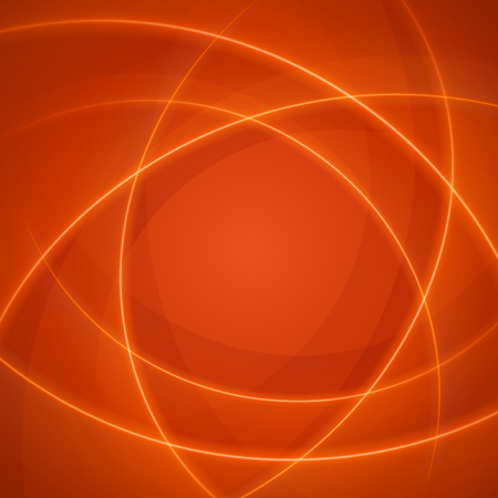 stripped: Smooth light orange waves lines vector abstract background. Good for promotion materials, brochures, banners. Abstract Backdrop, Technology Background. Glowing effects. Illustration