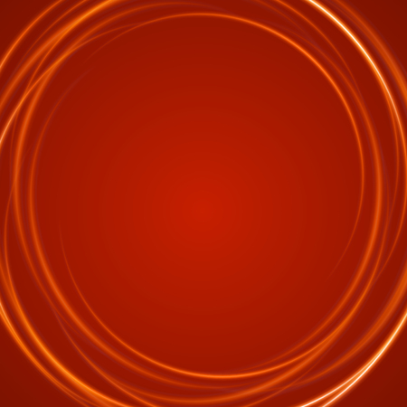 Smooth light orange waves lines abstract background. Good for promotion materials, brochures. Abstract Backdrop, Technology Background. Glowing effects. Illustration