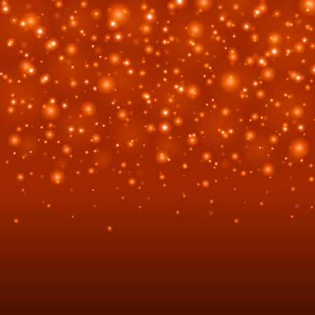 Abstract Light Orange Bokeh Background Illustration. Magic Defocused Glitter Sparkles. Good for promotion materials, Brochures. Abstract Backdrop.
