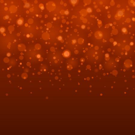Abstract Light Orange Bokeh Background Vector Illustration.
