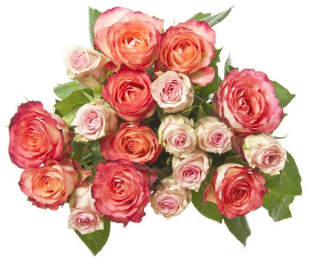 rosas naranjas: manojo de rosas