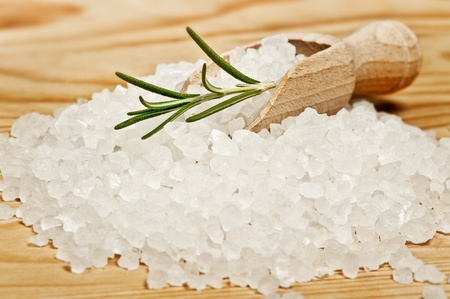 sea food: herbal salt close up