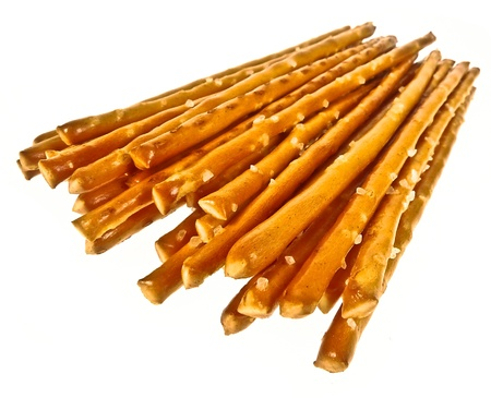 salted sticks isolated on white Stock Photo - 12653079