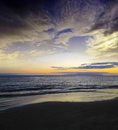 sunset above sea Stock Photo - 13319839