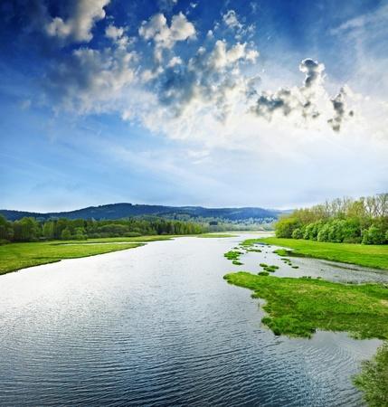 lipno: lake Lipno Czech republic