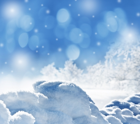 winter background with snow texture close up  photo
