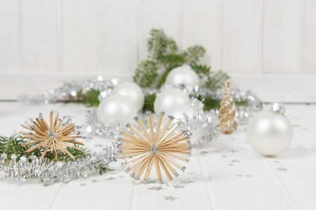 christmas still life with decorations photo