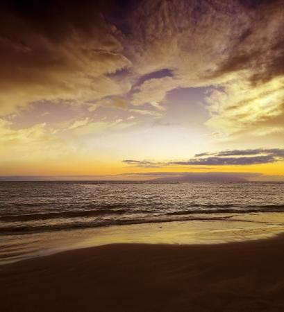 sunset above sea Stock Photo - 16810112