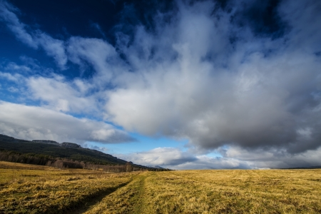dramatic sky - early spring landscape photo